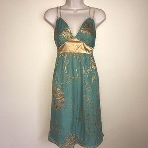 EUC 💛 ARDEN B | Teal + Gold Dress